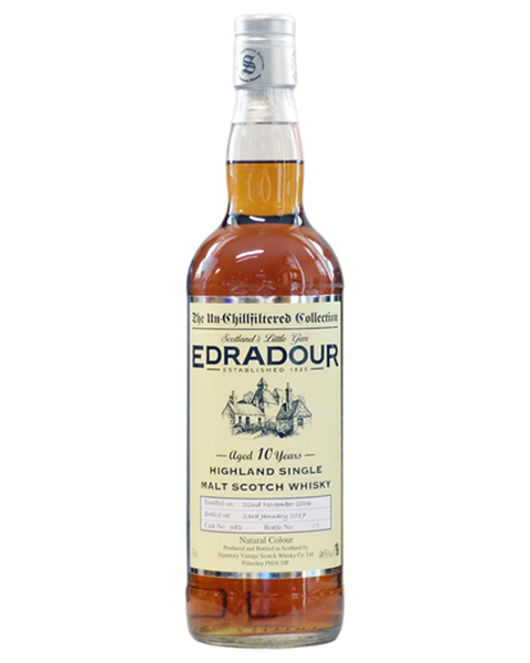 Signatory, Edradour 10 years 2009 Un-Chillfiltered
