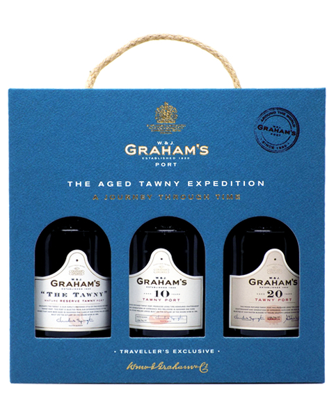 Graham's Port Tawny Travel Pack 3 x 0,2lt (The Tawny / 10 Years / 20 Years) - 0,