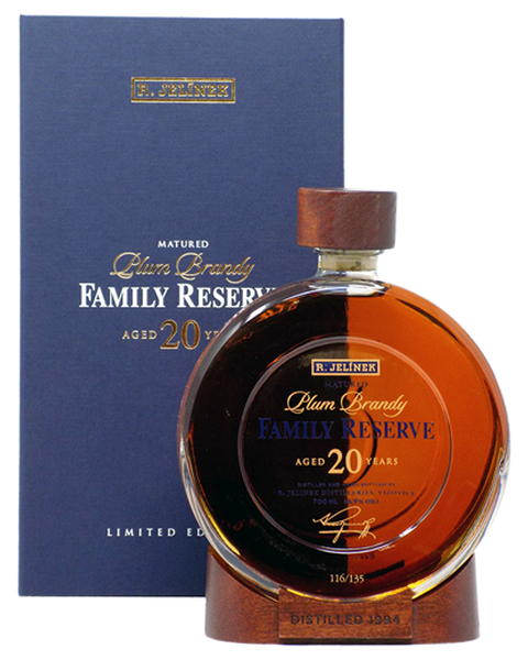 R. Jelínek Plum Brandy Family Reserve 20 years - 0,7 lt