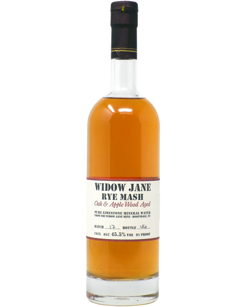 Widow Jane Rye Mash, Oak & Apple Wood Aged - 0,7 lt