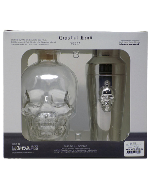Crystal Head Vodka  + Cocktail Shaker Gift Set - 0,7 lt